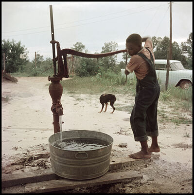 Gordon Parks, 'Untitled, Shady Grove, Alabama (Pumping Water 37.043)', 1956