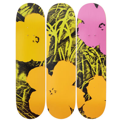 Andy Warhol, 'Flowers (Green/Pink) Skateboard Decks after Andy Warhol', 2019