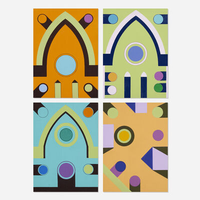 Kenneth Licht, 'Geometric Paintings (four works)', c. 1970