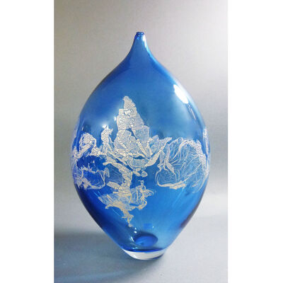 "David Thai, 'Atlas Vase 12"" Blue', 2019"