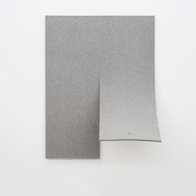 Naama Tsabar, 'Work On Felt (Variation 4) Gray', 2016