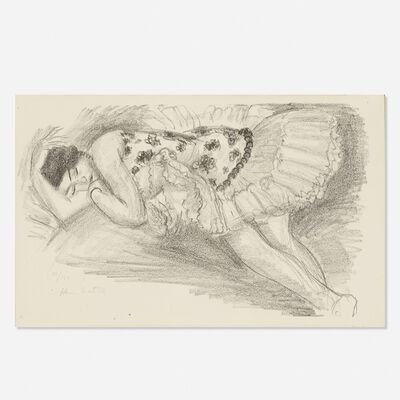 Henri Matisse, 'Danseuse endormie au divan (from Dix danseuses)', 1927