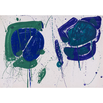 Sam Francis, 'SF-318, Blue Green', 1963