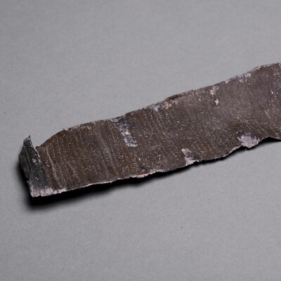 Biblical, 'Lead Scroll Inscribed with Mandaic Aramaic Text', ca. 3rd Century AD to 5th Century AD