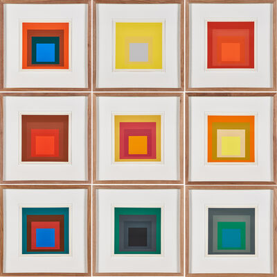 After Josef Albers, 'Homages to the Square (Nine Works from Albers)', 1977