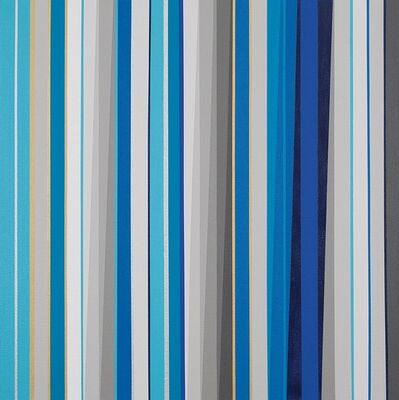 Gabriele Evertz, '(A-) Chromatics + Metallics (Blue)', 2014