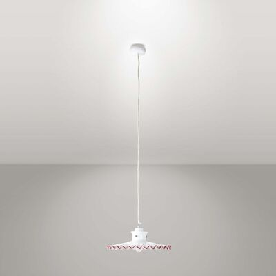 Ludovico Diaz de Santillana, 'A Pinocchio chandelier in metal with a blown glass diffuser', 1970 ca.