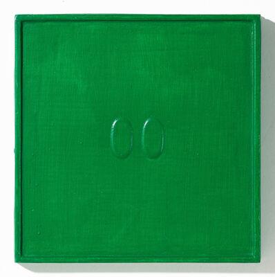 Turi Simeti, '2 ovali verdi', 1967