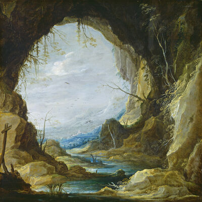 David Teniers the Younger, 'Vista from a Grotto', early 1630s