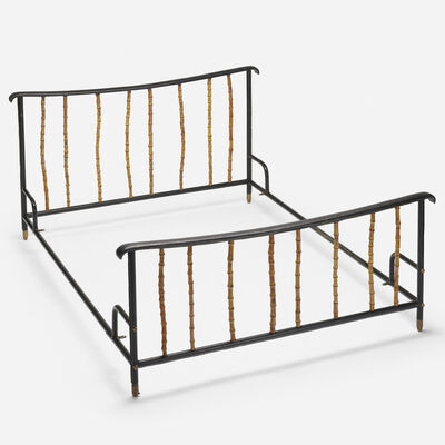 Attributed to Jacques Adnet, 'full-size bed', c. 1950