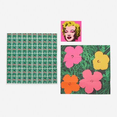 Andy Warhol, 'Marilyn, Flowers and S&H Green Stamps (three mailers)', 1964/1965/1981