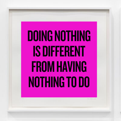 Douglas Coupland, 'Doing nothing is different from having nothing to do', 2020