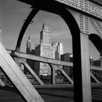 Vivian Maier, 'VM19XXW03132-03-MC - Chicago, IL, n.d., Bridge View of Skyline', Printed 2017