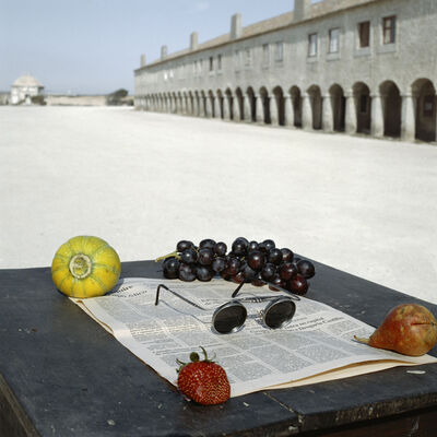 Geof Kern, 'Still Life with Fruits and Newspaper', 1992