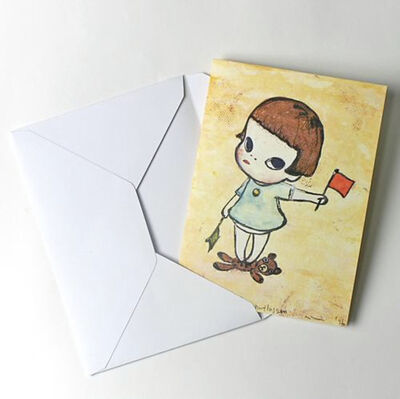 "Yoshitomo Nara, '""Flag Signal Girl"" Greeting Card', 2010-2019"