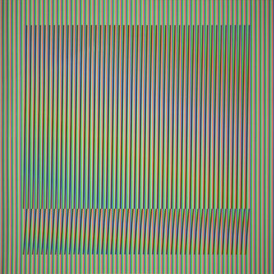 Carlos Cruz-Diez, 'Induction Chromatique a double frequence Orinoco 3', 2018