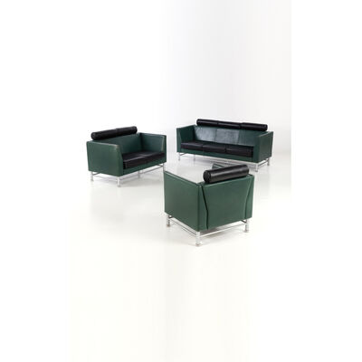 Ettore Sottsass, 'Eastside - Set consisting of two sofas and an armchair', circa 1980