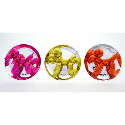 Jeff Koons, 'Balloon Dogs (Yellow, Magenta and Orange)', 2015