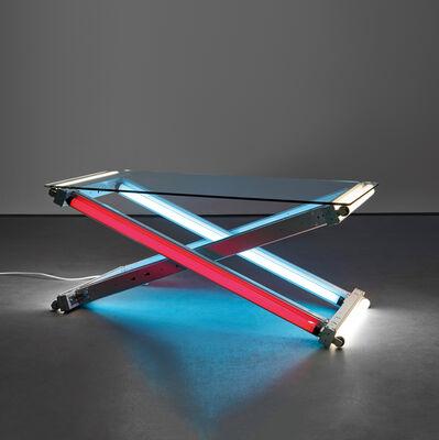 Iván Navarro, 'Lamp Table (Blue-Red-White)', 2003