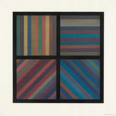 Sol LeWitt, 'BANDS OF LINES IN FOUR DIRECTIONS (SQUARE PLATE) (K. 1993.02)', 1993