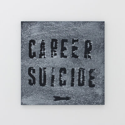 Mark Flood, 'Career Suicide (in the snow)', 2015