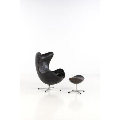 Arne Jacobsen, 'Egg Chair,  Armchair and ottoman', 1958