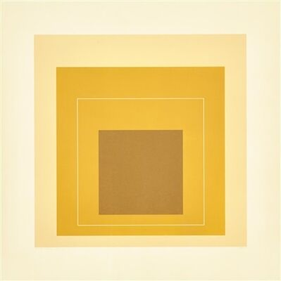 Josef Albers, 'White Line Squares  (Series ll). WLS XVI', 1966