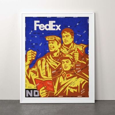 Wang Guangyi 王广义, 'Fedex No (from Rhythmical Dichotomy Portfolio)', 2007-2008