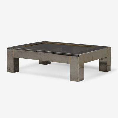 Karl Springer, 'Heavy Parsons Style coffee table', c. 1983