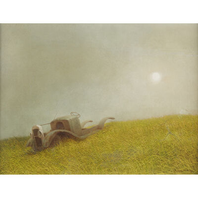 Robert Remsen Vickrey, 'Untitled (Car In A Field)'