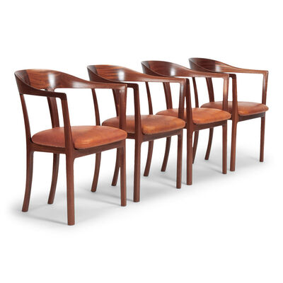 Ole Wanscher, 'Set of four armchairs', 1958