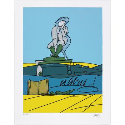 Valerio Adami, 'Dialogue dans le paysage II.', 1988