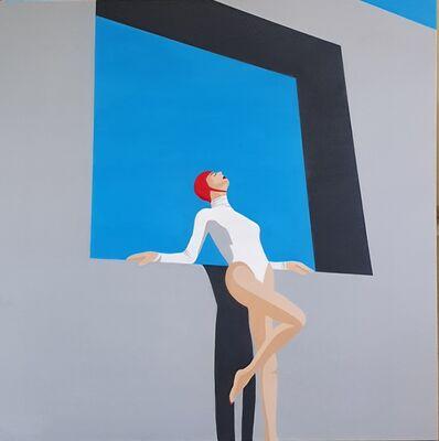 Noa Havatzelet, 'Blue sky - contemporary minimalist painting', 2020