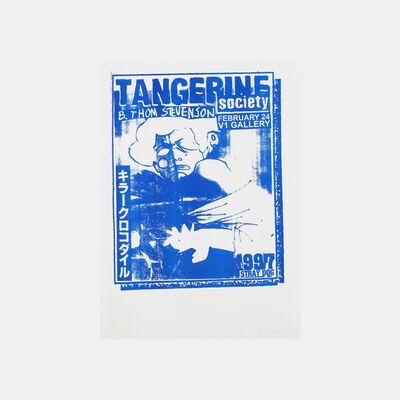 B. Thom Stevenson, 'Tangerine Society (blue)', 2017