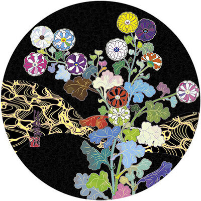 Takashi Murakami, '潤声 夜に光る草花 Kansei: Wildflowers Glowing in the Night', 2014