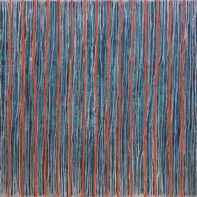 Max Kong, 'Orange Lines', 2004