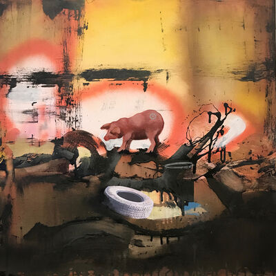 Marcus Jansen, 'Pig With Target', 2017