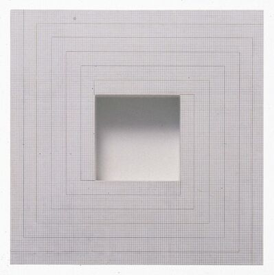 Jackie Winsor, 'Inset Wall Piece Four Color Spiral on 1/8 Inch Grid', 1995