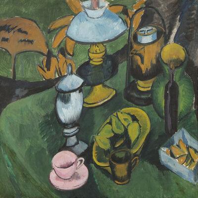 Ernst Ludwig Kirchner, 'Nature morte à la lampe', 1912
