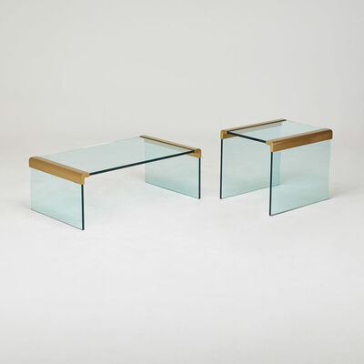 "Prismatique Designs Ltd., 'Series 400 coffee and side ""Waterfall"" tables, in the style of Pace, Canada', 1980s"