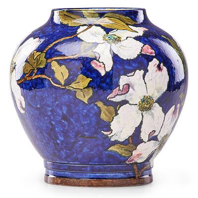 John Bennett, 'Vase With Dogwood Blossoms On Blue Ground, West Orange, NJ', 1884