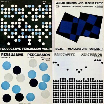 Josef Albers, 'Josef Albers record album art 1958-62 (set of 4 works)', 1958-1962