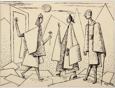 Xul Solar, 'Sin Titulo (la visita)', 1955