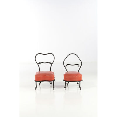 Eric Schmitt, 'Pair of fire side chairs', near 1988