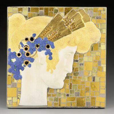 Leopold Forstner, 'Girl´s Head with Ears of Corn', ca. 1912