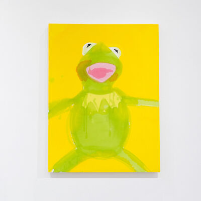 Liz Markus, 'Kermit with Yellow Background', 2021