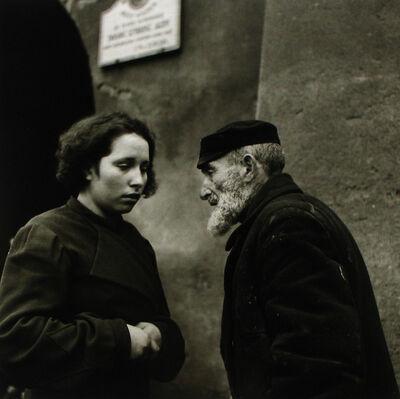 Roman Vishniac, 'Warsaw. Grandfather and Granddaughter.', 1938