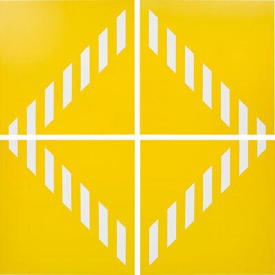 Daniel Buren, 'PVC giallo − Quatre éléments. travail situé', 2003