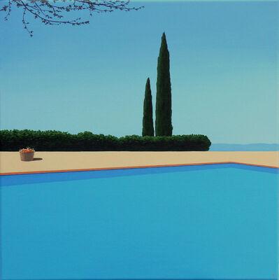 Magdalena Laskowska, 'A basket of tangerines - landscape painting', 2020