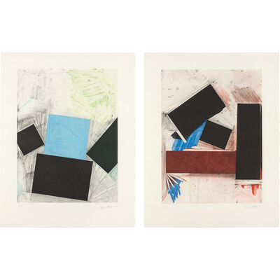 Joel Shapiro, 'UNTITLED (BLUE SQUARE WITH GREEN); UNTITLED (RED SQUARE WITH BLUE)', 1992
